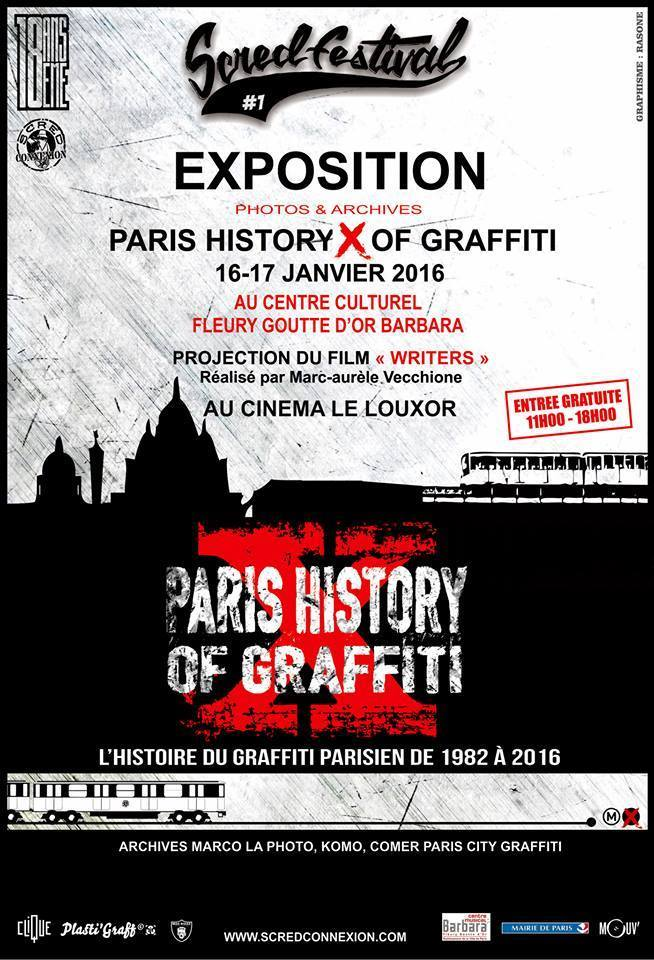 Scred-festival / PARIS HISTORY X OF GRAFFITI / 2016