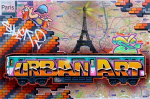 "2016 Map PARIS "" Urban-art-2 """